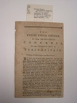 pamphlet, unknown, 1775	unknown