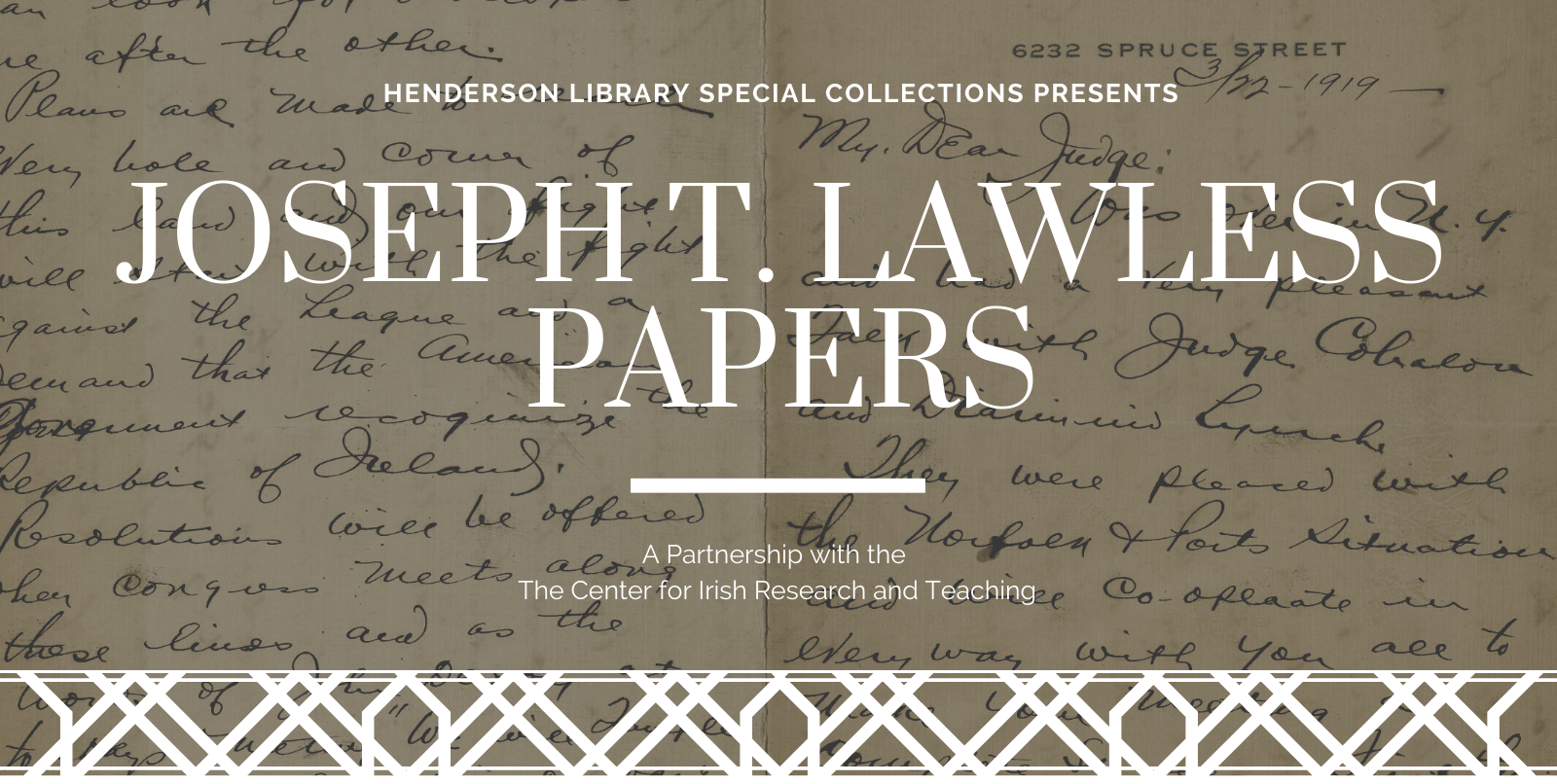 Joseph T. Lawless Papers