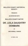 An Interview with Bulloch County Native Dr. Leila Daughtry Denmark