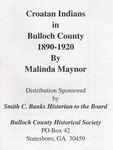 Croatan Indians in Bulloch County by Malinda Maynor