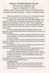 History of Bethel Baptist Church by Herman Nessmith, Roy Smith, and Paul Nessmith