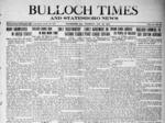 Bulloch Times (Statesboro News - Statesboro Eagle) [1919 - 1921]