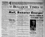Bulloch Times (Statesboro News - Statesboro Eagle) [1938-