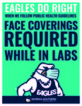 Eagles Do Right: Face Coverings in Labs by Georgia Southern University