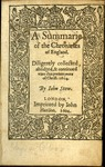 A summarie of the chronicles of England by John Stow