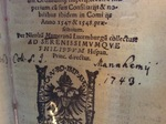 Mameranus Catal fam frontispiece 4-Folger 173-562.1q by Kathleen M. Comerford