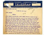 Telegram to Joseph T. Lawless from Frank P. Walsh, Jan 26, 1920 by Frank P. Walsh