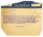 Telegram to Joseph T. Lawless from Frank P. Walsh, Mar 13, 1920 by Frank P. Walsh