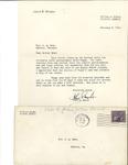 Letter to Laura Dorough Dyar from John Marsh, February 6, 1940 by John Marsh