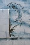 Blue fish graffiti