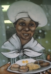 Woman with plate of food