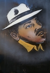 Man in white hat