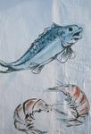 Fish and shrimp graffiti