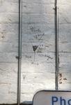 Graffiti on white wall
