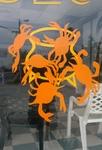 Crabs around cooking pot