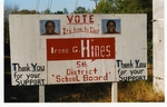 Irene Hines campaign sign