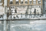Faded street graffiti