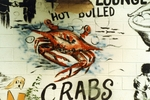 Hot boiled crabs