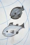 Two fish graffiti
