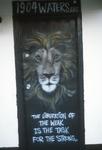 Lion on door