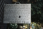 Proverbs sign