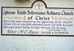 Ephesus Faith Deliverance Holiness Church of Christ