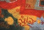 Red, yellow, green graffiti