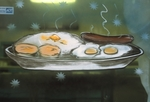 Breakfast Window Art
