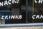 Words painted on window