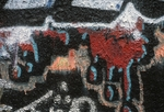 Red and blue graffiti