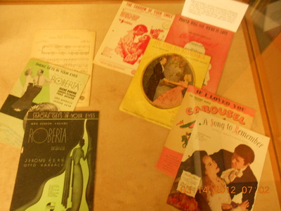 Sheet Music Exhibit Case