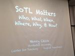 SoTL Matters, Presented by Nancy Chick of Vanderbilt University