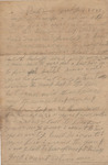 Letter From Wiley Nessmith to Martha Ann Nessmith July 6, 1862 by Wiley Nessmith