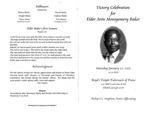 Elder Artis Montgomery Baker