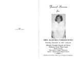 Allie Bell Parrish Byrd