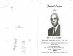 Rev. Arthur Lee Rozier, Sr.
